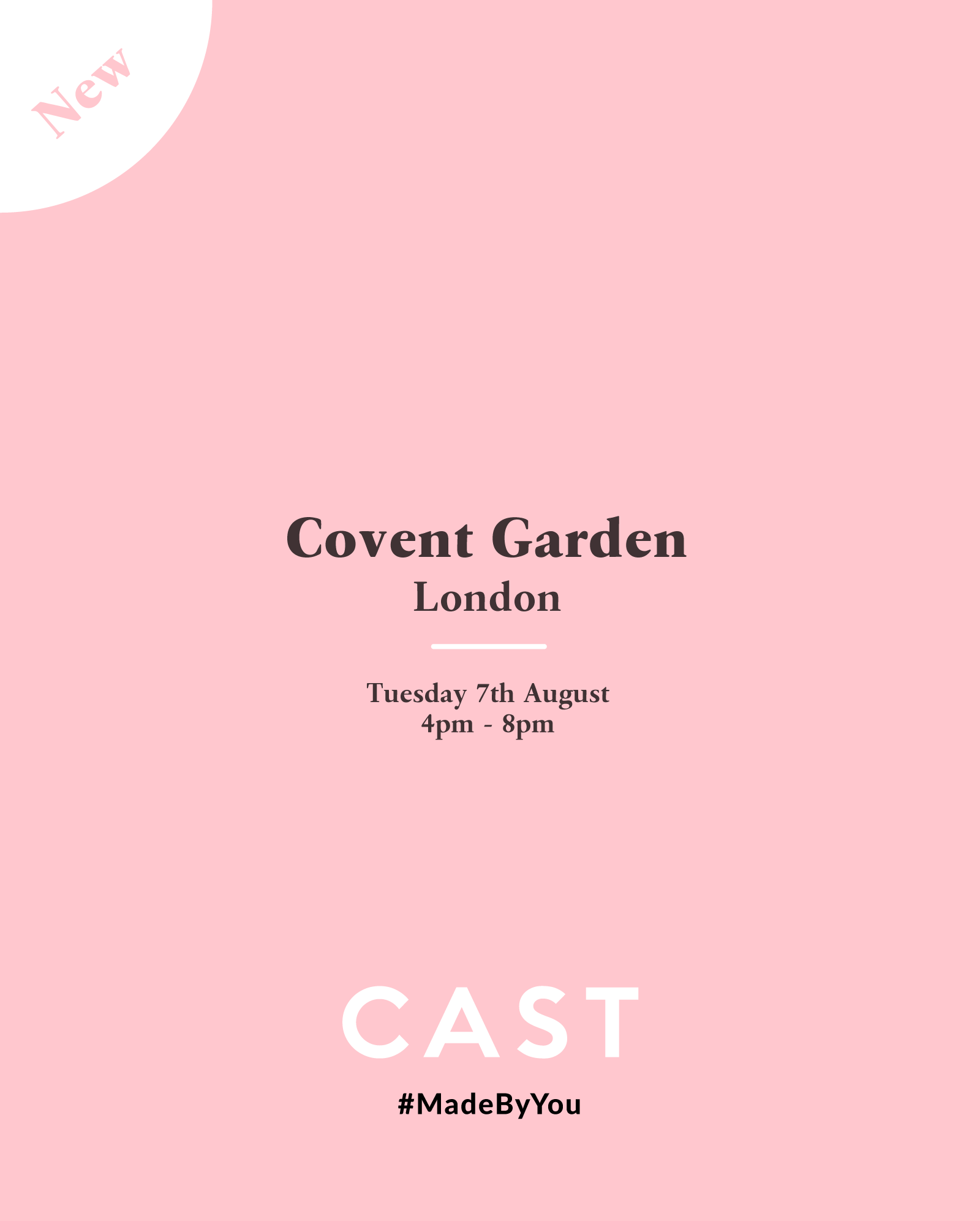 CAST x Covent Gardent, London - Tue 7th Aug - Bespoke Jewellery ...